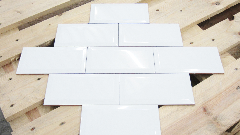Metro tegel wit glans 10 x 20 webshop vloertegels wandtegels - Metro tegels ...