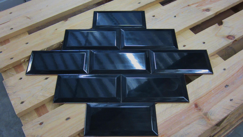 Metro tegel zwart glans 10 x 20 webshop vloertegels wandtegels - Metro vloertegels ...